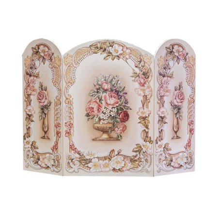 Copper Victorian Fireplace Screen - Stupell Industries Victorian Floral Fireplace Screen 42W 31H