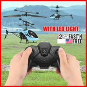 DIPVSLUNE Kids Children Flashing Helicopter Drone Flying Toys Plane Gifts w/Remote Control