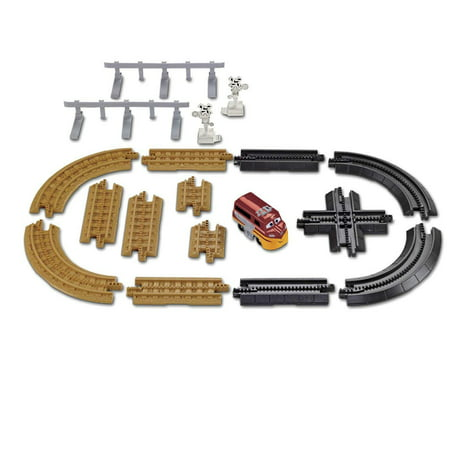 Geotrax Disney Pixar Cars Track Pack with TREV - Add Radiator Springs to your Geo Trax System - Includes tracks & signs - Geotrax Elevation Track Pack