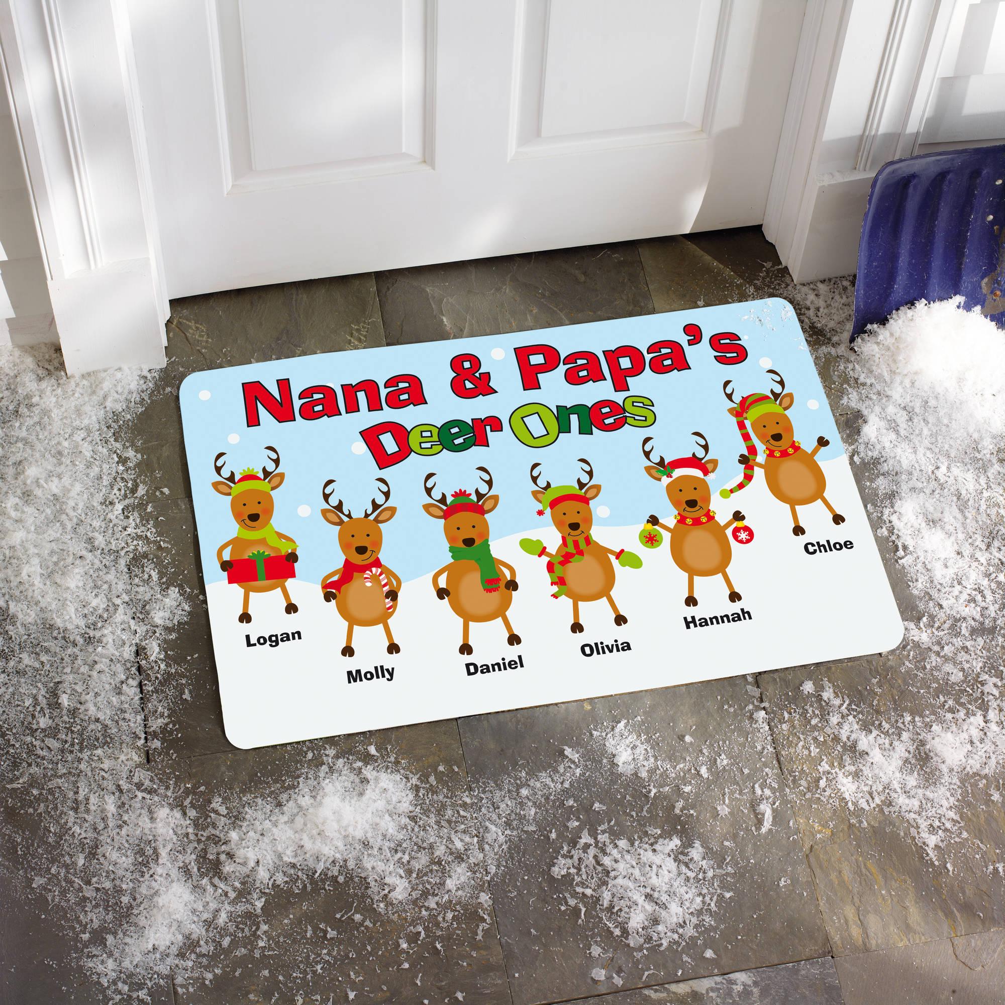 """Personalized """"Deer Ones"""" Doormat, 17"""" x 27"""""""