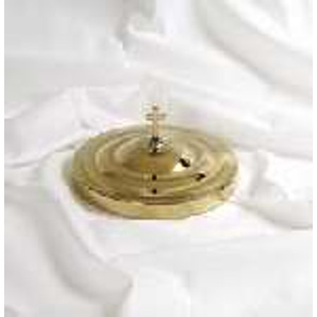 Communion Remembranceware Brasstone Bread Plate Cover  Stainless Steel