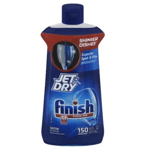 Finish Jet Dry Dishwasher Rinse Aid 16 oz (Pack of 6)