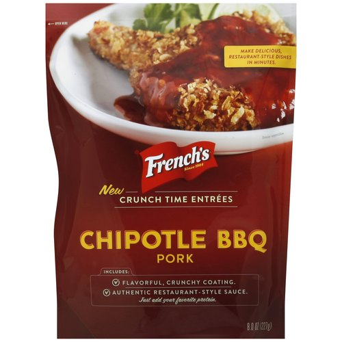 French's Crunch Time Entrees Chipotle BBQ Pork, 8 oz