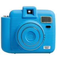 SHARPER IMAGE Instant Camera, Built-in Lens Cover, Auto-Flash, Includes Camera Strap,