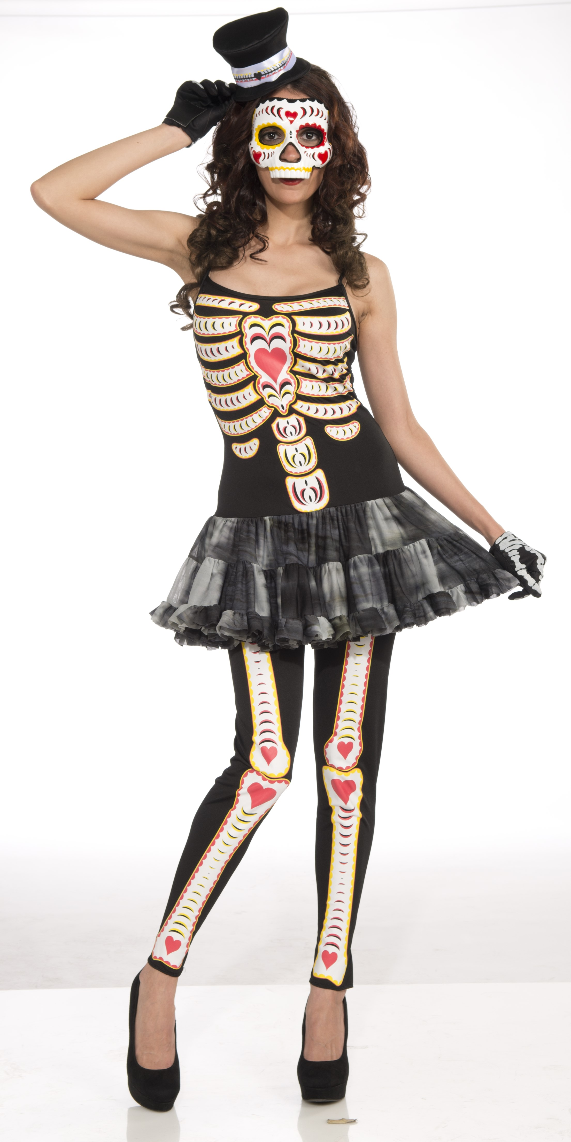 day of the dead female adult halloween costume - one size - walmart