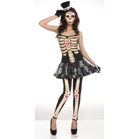 Day Of The Dead Difference Between Halloween (Day of the Dead Female Adult Halloween Costume - One)