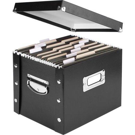 Polyethylene File Boxes (IdeaStream, IDESNS01533, Collapsible Desktop File Box, 1 Each,)