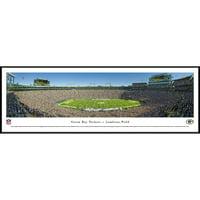 Green Bay Packers - 50 Yard Line at Lambeau Field - Blakeway Panoramas NFL Print with Standard Frame