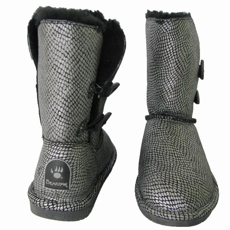 Bearpaw Womens 'Mamba' Boot Shoe, Black, US 6