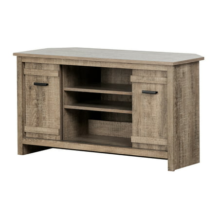 South Shore Exhibit Corner TV Stand, for TVs up to 42'', Multiple (Corner Entertainment Cart)