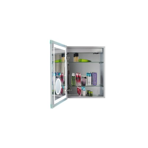 Red Barrel Studio Obryan 16u0027u0027 X 20u0027u0027 Recessed Medicine Cabinet With LED
