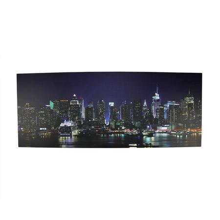 Led Lighted Nyc New York City Skyline Canvas Wall Art 15