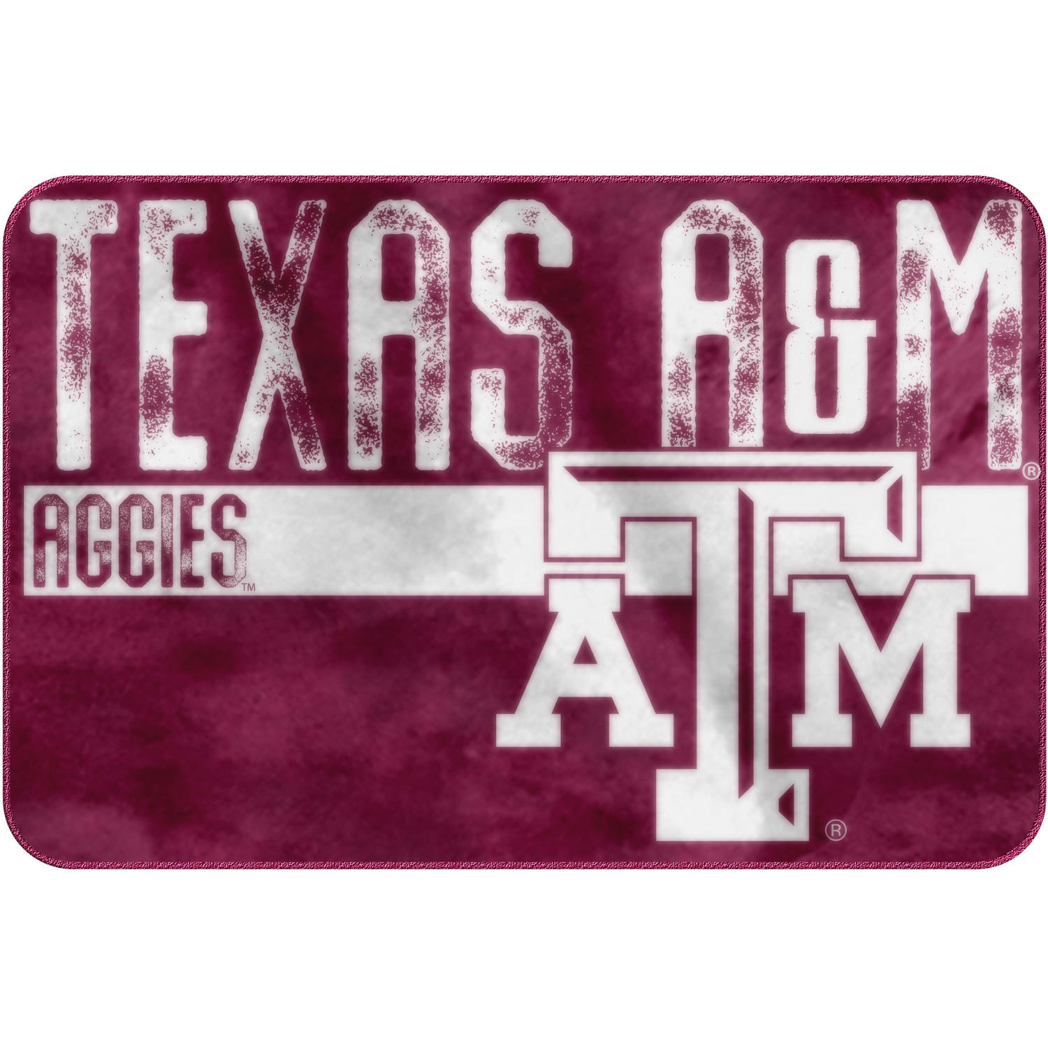 "NCAA Texas A&M Aggies ""Worn Out"" Mat, 20"" x 30"""