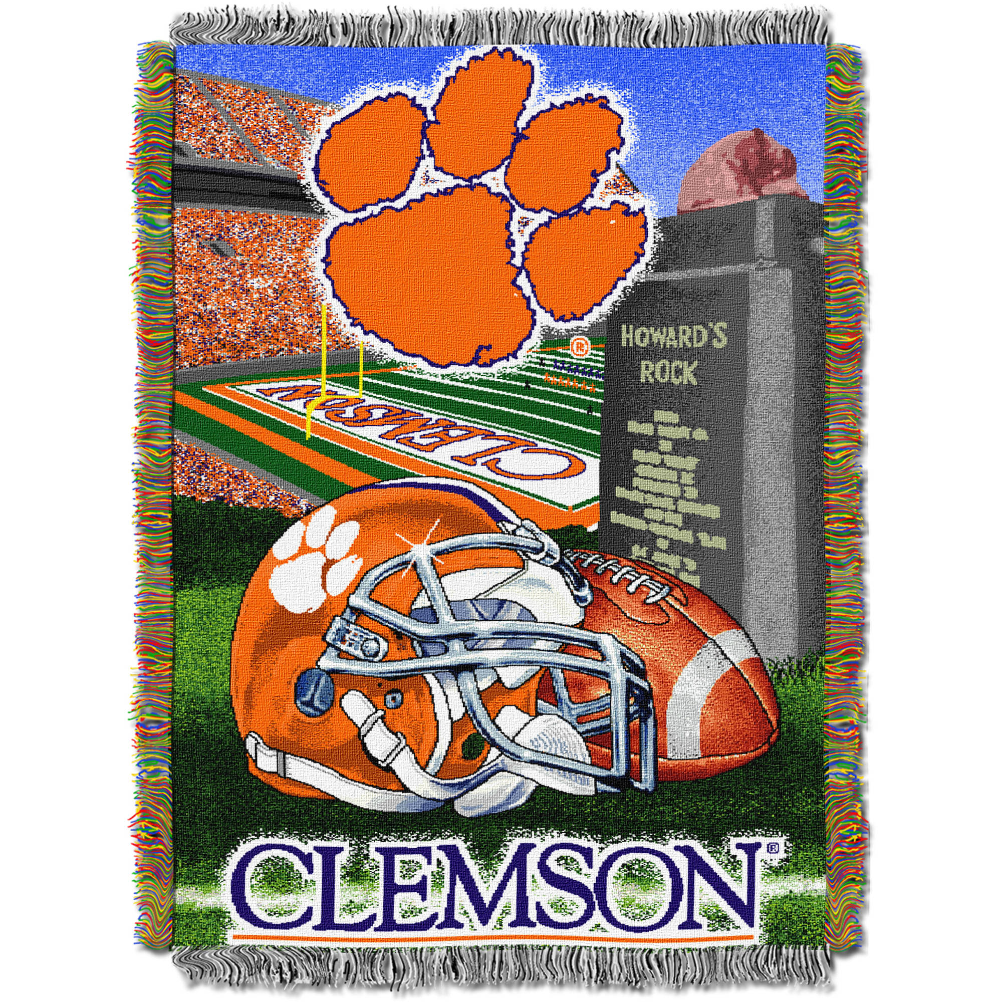 "NCAA 48"" x 60"" Tapestry Throw Home Field Advantage Series- Clemson"