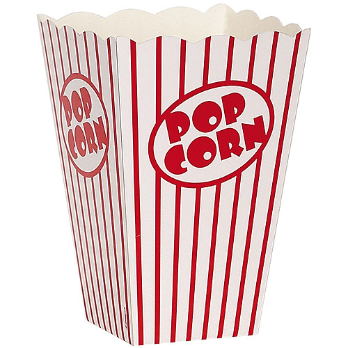 "Popcorn Boxes, 6"" x 4.25"" x 4.25"", 10-Pack"