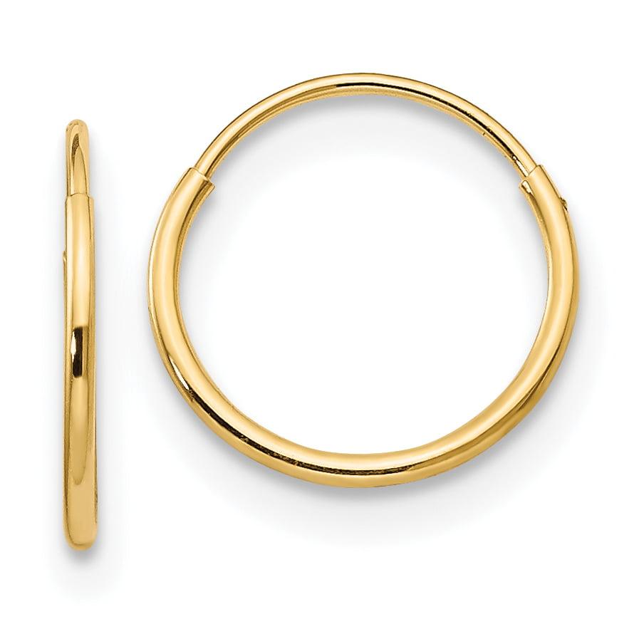 14K White Gold Madi K Childrens 22 MM Hoop Earrings