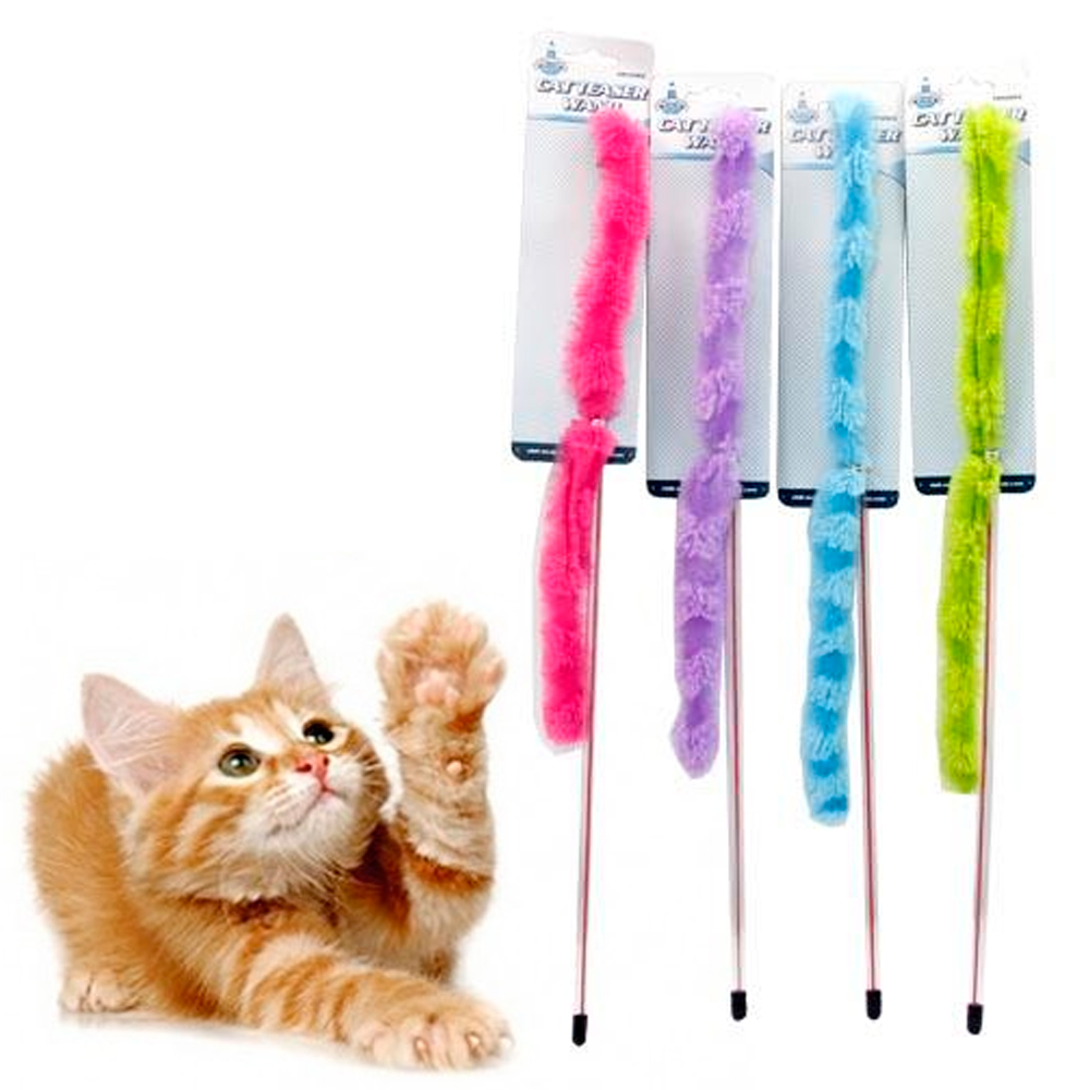 1 Cat Toy Wand Teaser Catcher Stick Dancer Exerciser Interactive Toy Pet Kiteen by JMK IIT