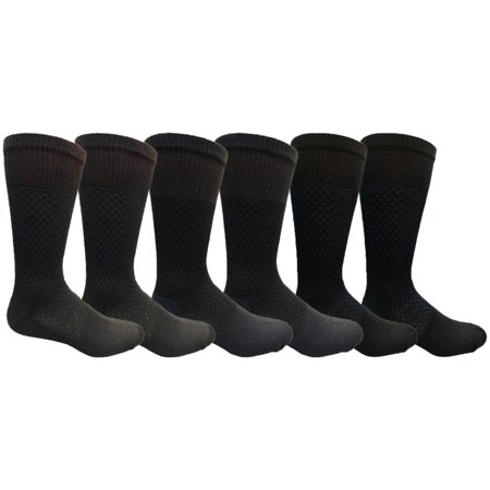 Mens Merino Wool Socks, Hiking, Backpacking, Lightweight Anti-Microbial Premium Wool (6 Pack)