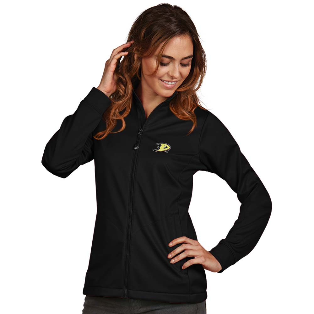 Anaheim Ducks Antigua Women's Golf Full Zip Jacket Black by ANTIGUA GROUP/ 22534