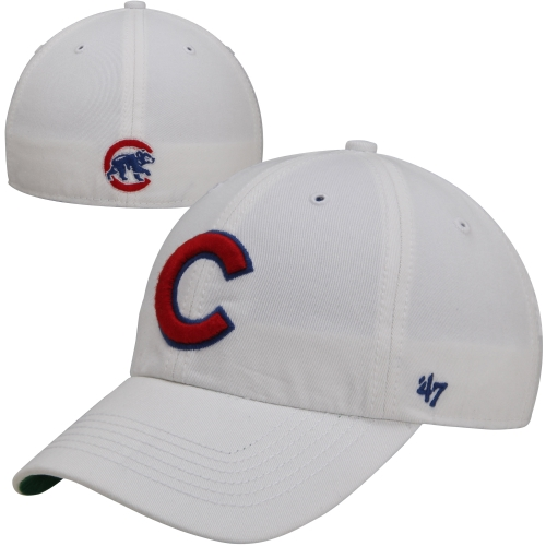 Mens Chicago Cubs '47 Brand White Franchise Fitted Hat