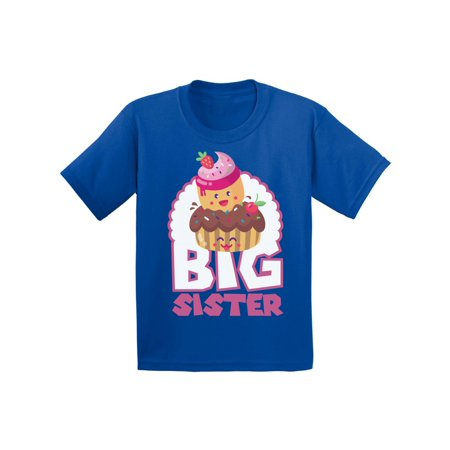 Awkward Styles Cupcake Shirts Big Sister Youth Shirt T Shirts for Girls Cupcake Clothing Big Sister Collection Funny Gifts for Girls I'm Big Sister Shirt Sis Tshirt for Kids Birthday Gifts for