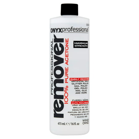 Acetone Nail Polish - (2 Pack) ONYX Professional 100% pure acetone nail polish remover