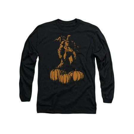 Batman Comic Book Superhero Icon Dark Knight's Pumpkin Patch Adult L-Sleeve - Batman Pumpkin