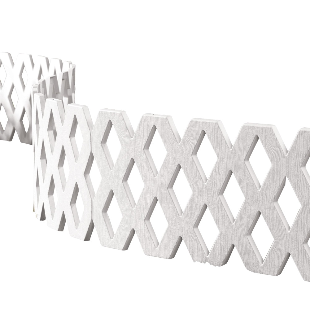 Lattice Fence Garden Border Set 4 Pc, White by Collections Etc