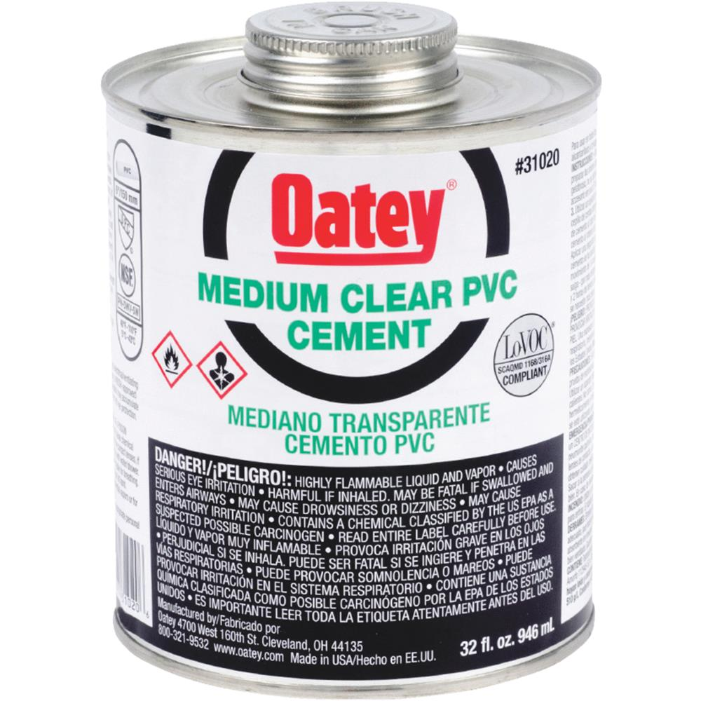 Oatey Quart Pvc Medium Cement 31020