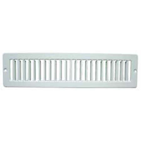 Toe Kick Registers - 4MJD5 Toe Space Grille, 2x12, White, By Industrial Grade