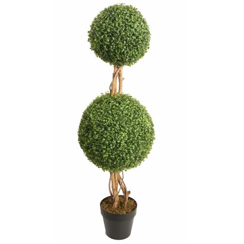 Northlight Seasonal Artificial Boxwood Garden Decoration Double Ball Topiary in Pot