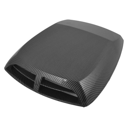 Ford Hood Scoops (Car Air Flow Intake Vent Bonnet Cover Decor Hood Scoop Check Prints Black Gray)