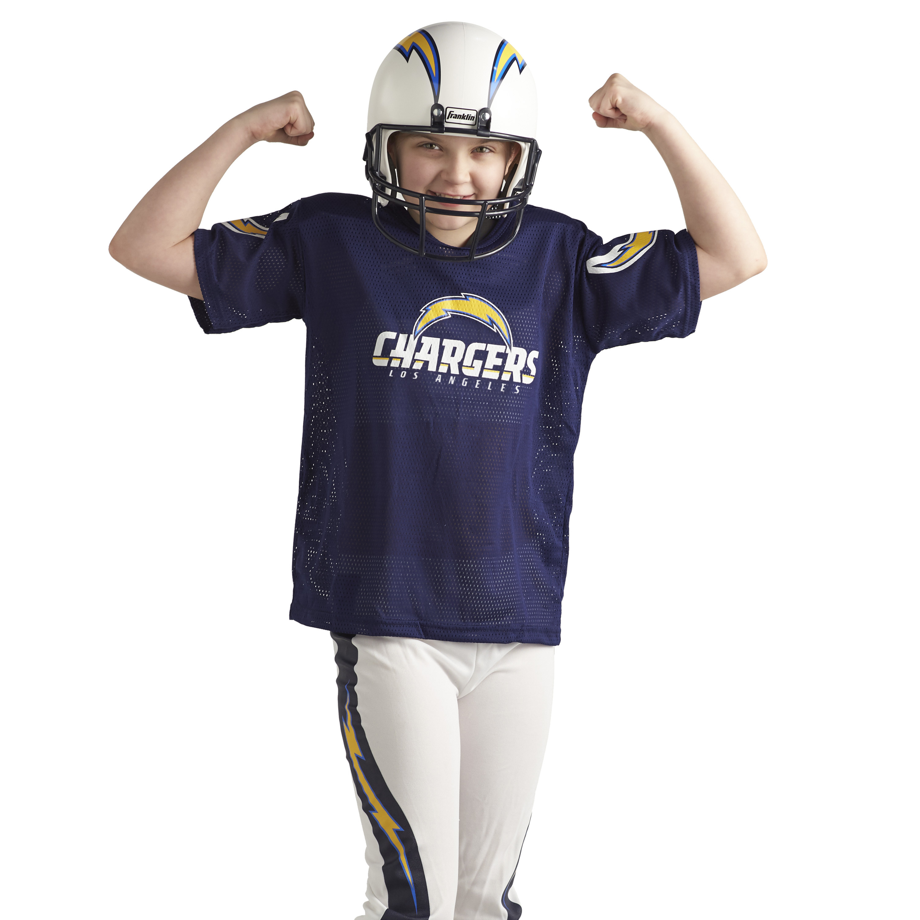 94b6dba6 Details about Kids Los Angeles Chargers Costume Helmet NFL Football Youth  Sports Uniform Set L