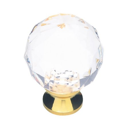 - Liberty Hardware Faceted Crystal and Brass Cabinet Knob