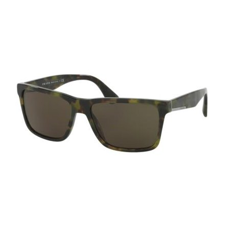 9d562bb818a PRADA - PRADA Sunglasses PR 19SS LAB4J1 Green Havana 59MM - Walmart.com