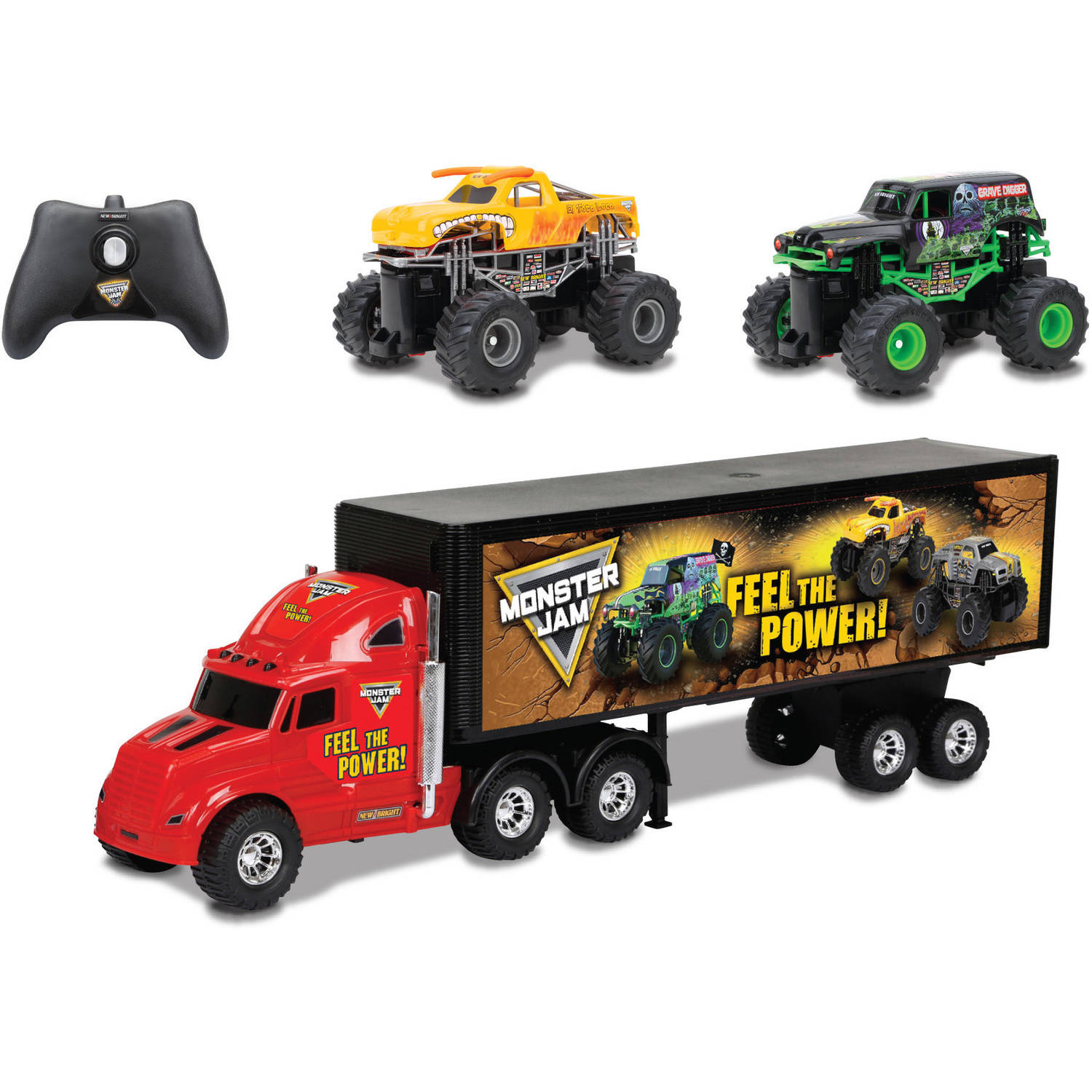 R/C Monster Jam Hauler Set with Grave Digger and Toro Loco