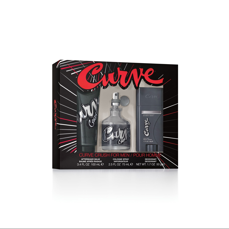 Curve Crush Cologne Gift Set for Men, 3 pc