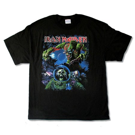 Iron Maiden Final Frontier Tour 2010 Album Cover Black T Shirt - Faire Maiden