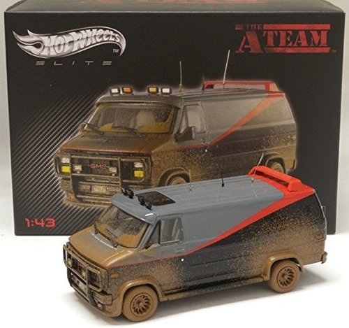 A-Team Classic GMC Van Muddy Hot Wheels Elite 1:43 Scale ...