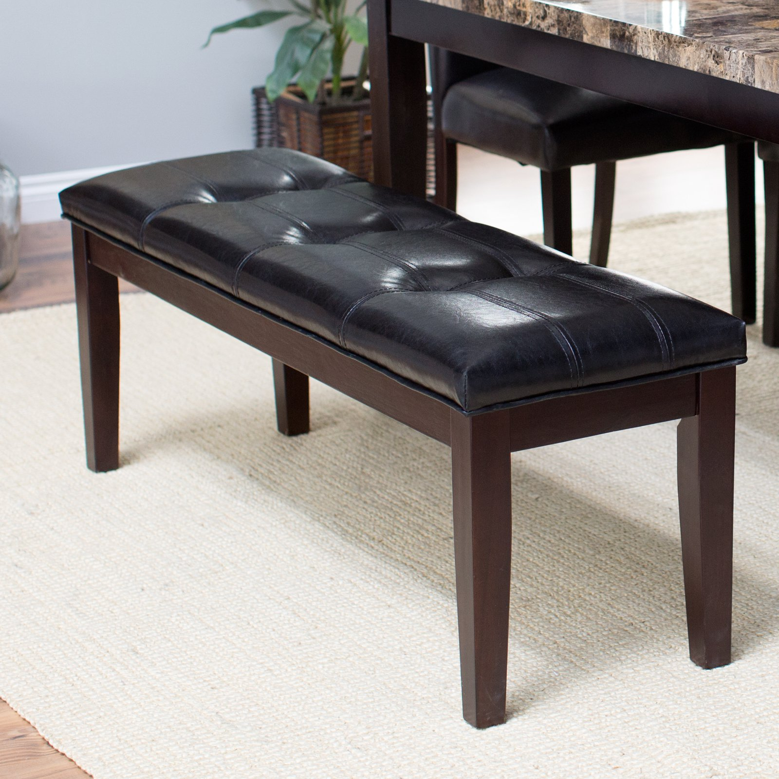 Finley Home Palazzo Backless Dining Bench, Brown