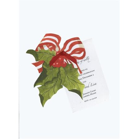 Stevie Streck Designs HW732BOX Holly With Bow With Red Ribbon Tag without Glitter - Pack of 3 - image 1 of 1