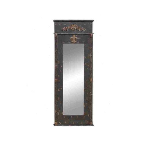Benzara 53819 Wall Accent Mirrors- Wood Mirror 67 inch H, 26 inch W