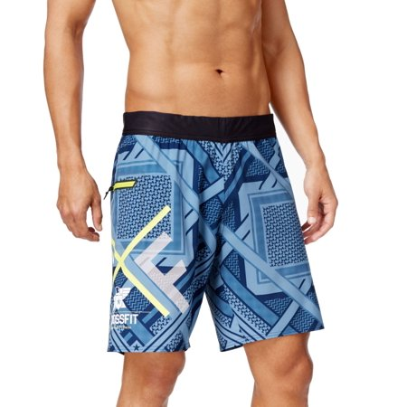 Reebok Weights (Reebok NEW Blue Mens Size Large L Board Surf Printed Seamed Shorts )