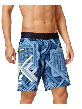 41487124590c Product Image Reebok NEW Blue Mens Size Large L Board Surf Printed Seamed  Shorts