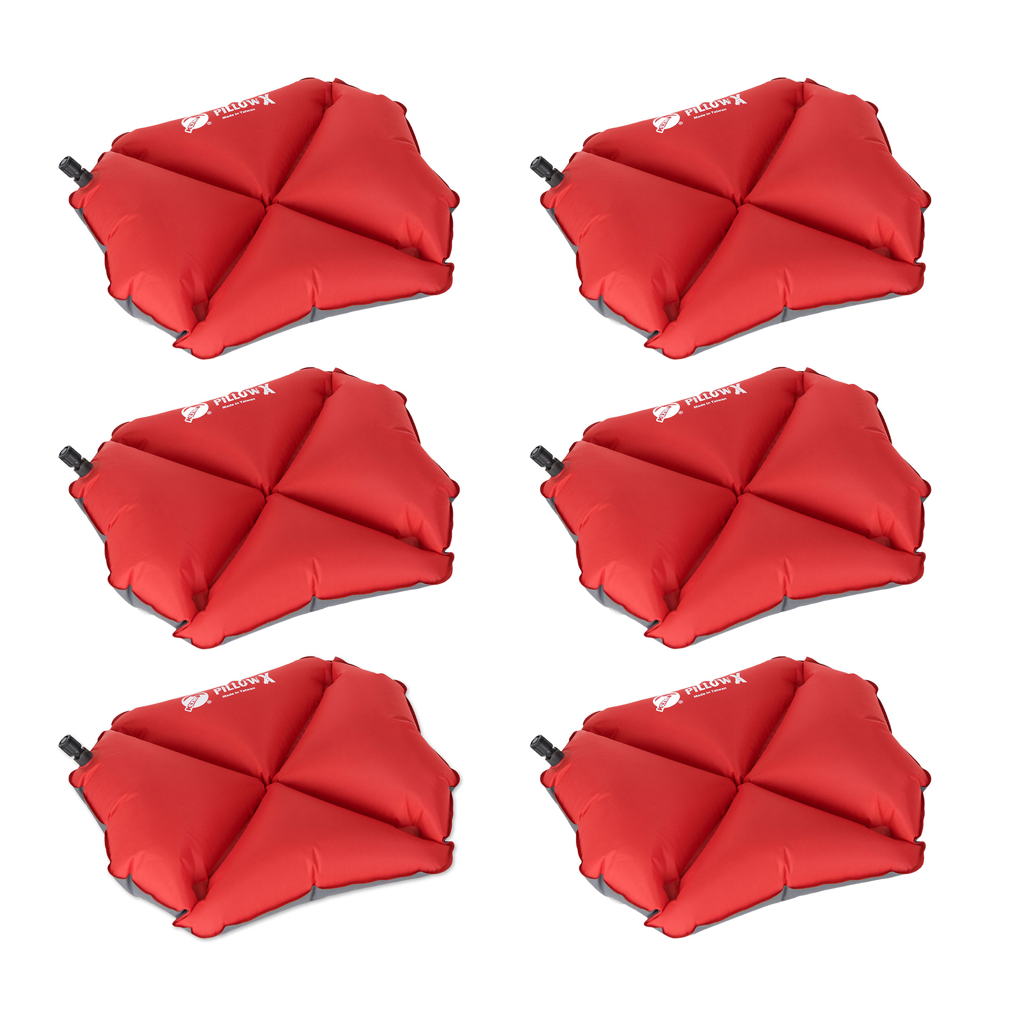 Klymit Pillow X Soft Ultralight Inflatable Travel Camping Pillow, Red (10 Pack)
