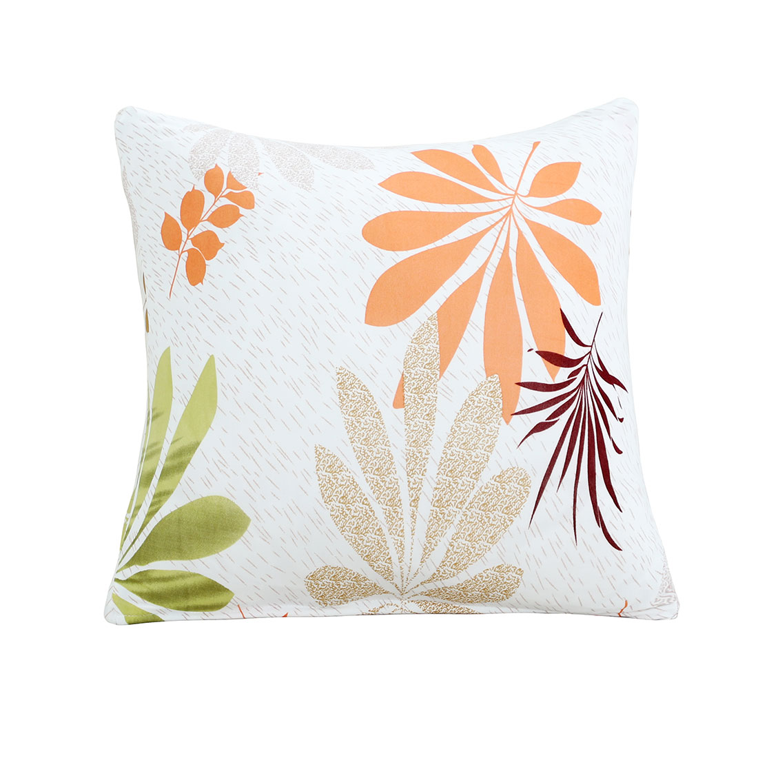 18 x 18 Inches Polyester Flower Pattern Square Waist Back Pillowcase Cushion Cover