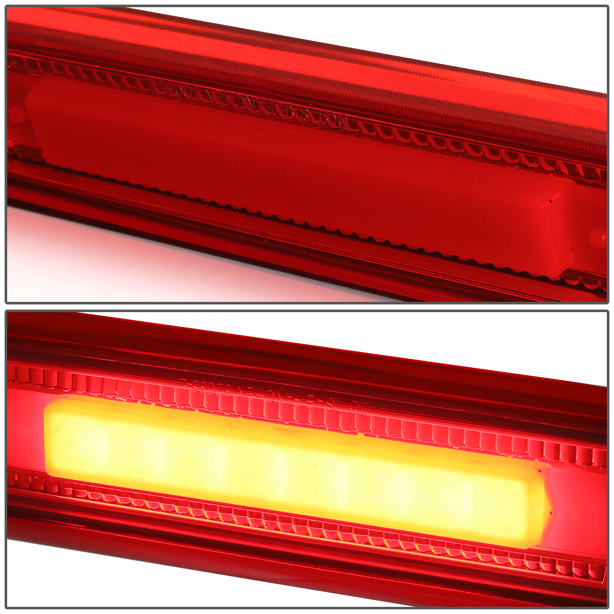 For 06 10 Jeep Commander Led Bar 3rd Third Tail Brake Light Rear Center Stop Lamp Red Housing 07 08 09