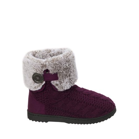 Women's Cable Knit Boot Slippers (Protective Cable Boot)
