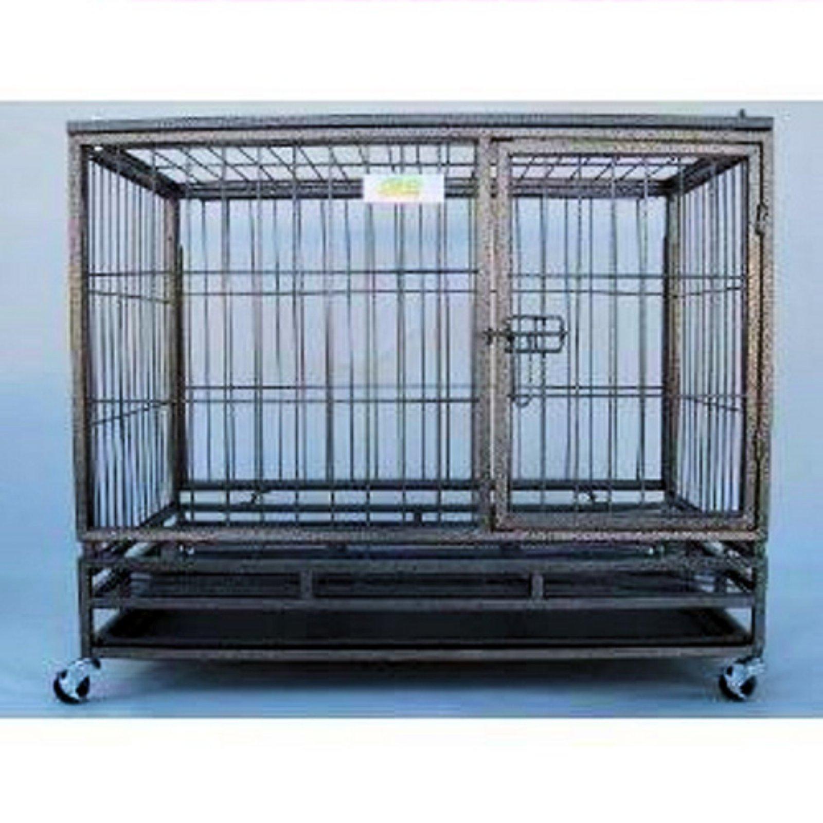 Go Pet Club Heavy Duty Mobile Metal Pet Cage