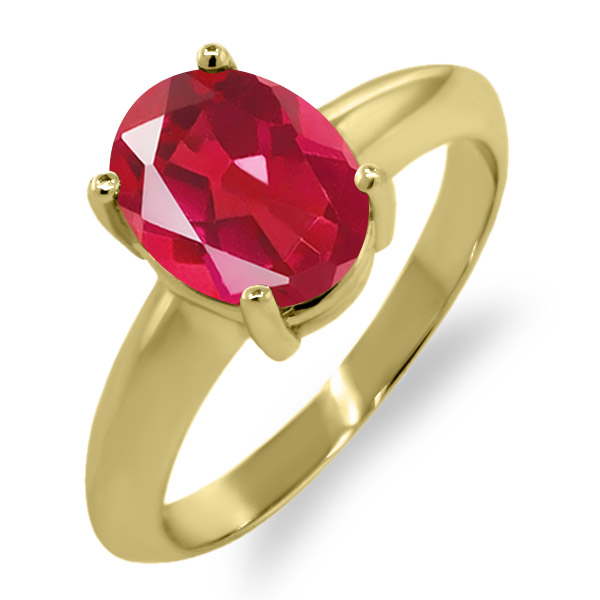 2.30 Ct Oval Last Dance Pink Mystic Quartz 18K Yellow Gold Ring 9x7 mm by